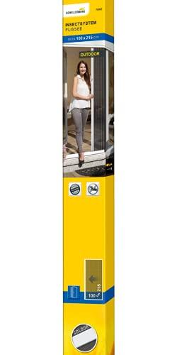Schellenberg 70993 Insektenschutz-Plissee für Türen 100 x 215 cm, Fliegengitter für Fenster