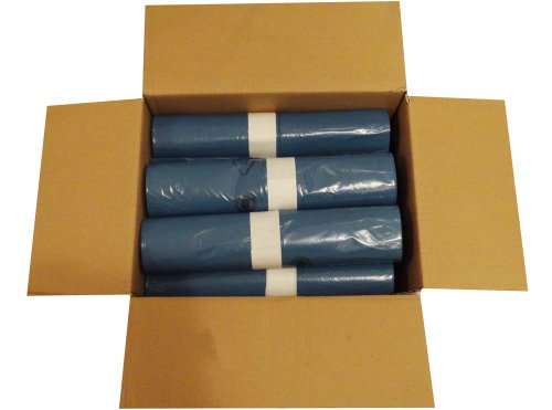 Hossi's Wholesale Abfallsäcke, 10 Rollen à 25 Heavy Duty Müllbeutel, Müllsäcke blau, Mülltüten extra stark, 120l, 700x1100mm