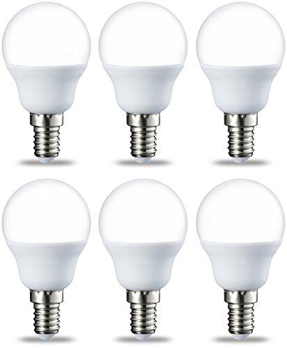 Amazon Basics E14 LED Lampe P45, Tropfenform, 5.5W (ersetzt 40W), warmweiß, 6er-Pack