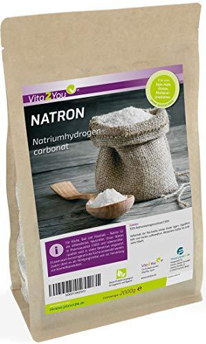 Natron Pulver 2kg - Backpulver - Natriumhydrogencarbonat - Natriumbicarbonat - pharmazeutische Lebensmittelqualität - Backsoda - Abgefüllt in Bayern