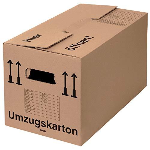 BB-Verpackungen 20 x Umzugskarton Profi 600 x 328 x 340 mm (stabil 2-wellig, belastbar bis 40 kg, recycelte Pappe) - Sets zwischen 5 und 150 Stück