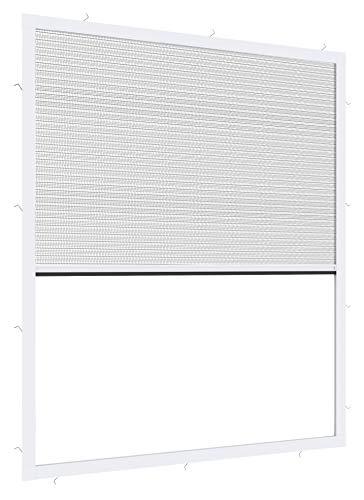 Windhager Expert Plissee Fenster Ultra Flat, Insektenschutz für Fenster, Fliegengitter, Mosquitoschutz, individuell kürzbar, 100 x 120 cm, weiß, 03242