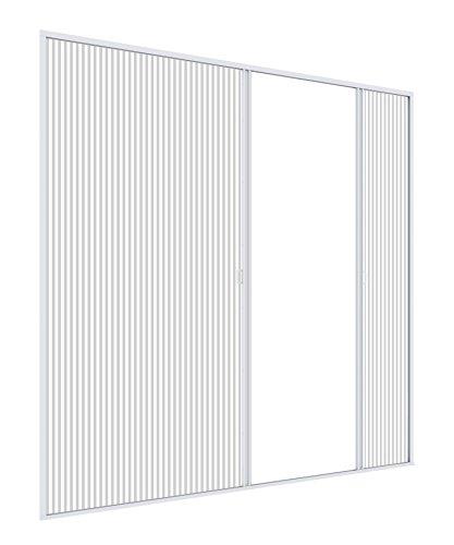 Windhager Insektenschutz Plissee-Tür Expert, Fliegengitter Alurahmen für Türen, individuell Kürzbar, Extra Gross für Doppeltüren, 240 x 240 cm, weiß, 03959