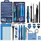 oGoDeal 127 in 1 Mini Feinmechaniker Schraubendreher Werkzeug Set und öffnungswerkzeug für iPhone, PC, Laptop, iPad, Tablet,Computer, MacBook, Brille, Xbox, Uhren, Kamera Reparatur (blau)