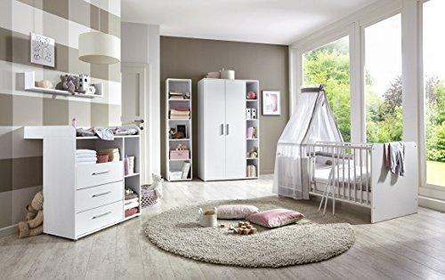 Babyzimmer komplett Set in Weiß (KIM 3)
